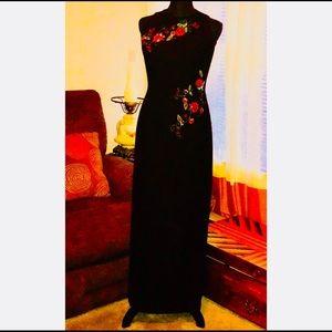 Maggy London Jewel Embellished Evening Dress